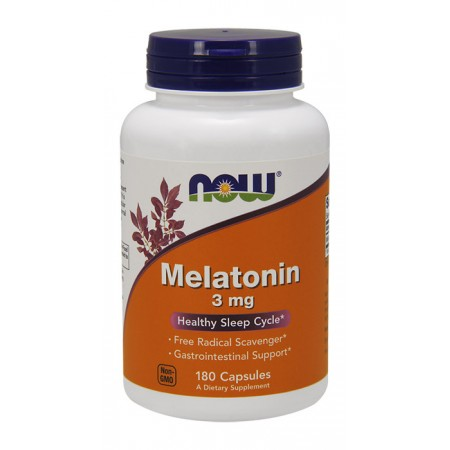 NOW FOODS Melatonin (Melatonina) 3g 180wege kap