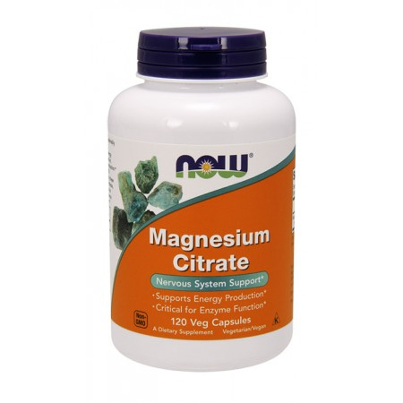 NOW FOODS Magnesium Citrate (Cytrynian magnezu) 400mg 120wege kaps