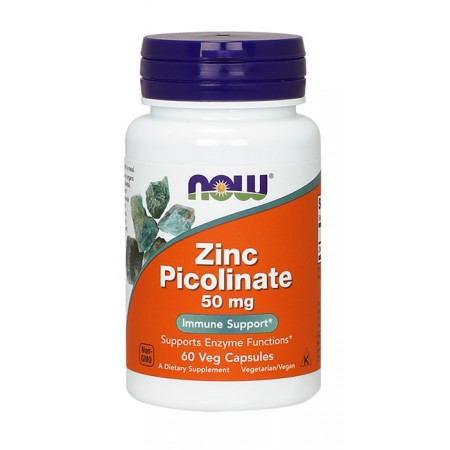 NOW FOODS Zinc Picolinate 50mg 60 weg kap