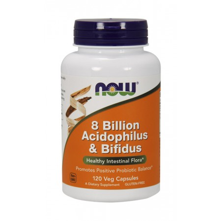 NOW FOODS 8 Billion Acidophilus & Bifidus 120kap wege