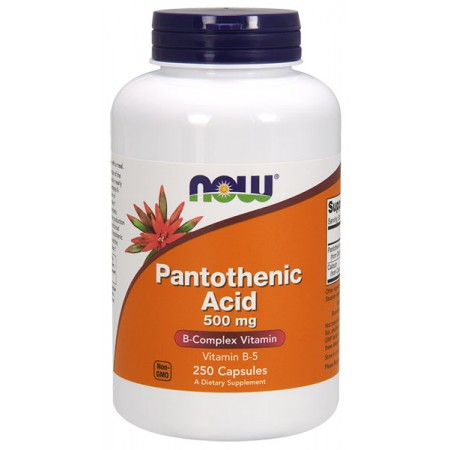 NOW FOODS Pantothenic Acid B5 (Kwas pantotenowy) 500mg 250kap