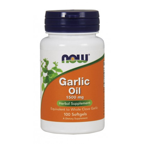 NOW FOODS Garlic Oil 1500mg 100kaps