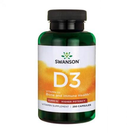 SWANSON Vitamin D-3 2000IU 250kap Witamina D3