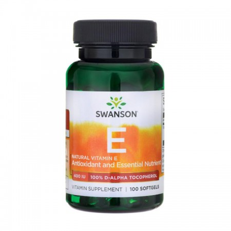 SWANSON Natural Vitamin E 400iu 100kap