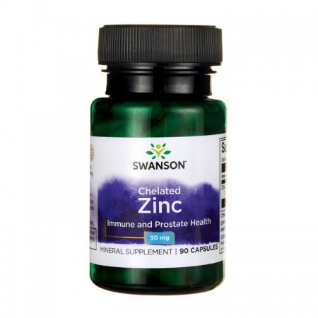 SWANSON Chelated Zinc 90kap