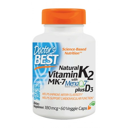 DOCTOR'S BEST Natural Vitamin K2 MK7 plus D3 60kap