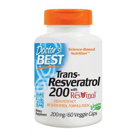 DOCTOR'S BEST Trans-Resveratrol 200 with ResVinol-25™ 60kap