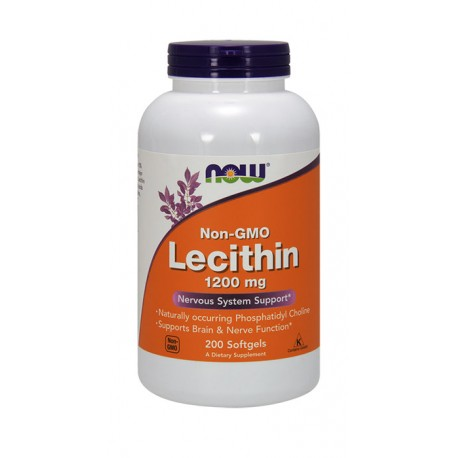NOW FOODS Lecithin Non-GMO 1200mg 200kap