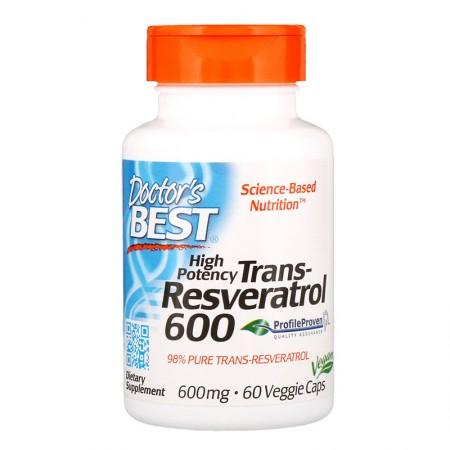DOCTOR'S BEST Trans-Resveratrol 600 60kap wege