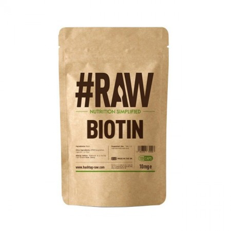 RAW Biotin (Biotyna) 10mg 120kap