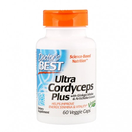 DOCTOR'S BEST Ultra Cordyceps Plus 60kap
