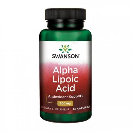 SWANSON Alpha Lipoic Acid 60kap 600mg Kwas Alfa Liponowy