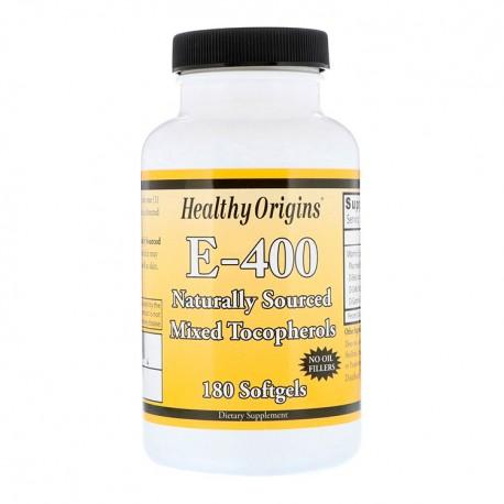 HEALTHY ORIGINS E-400 (Witamina E) 180kap