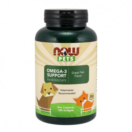 NOW PETS Omega-3 Support for Dogs & Cats 180kap