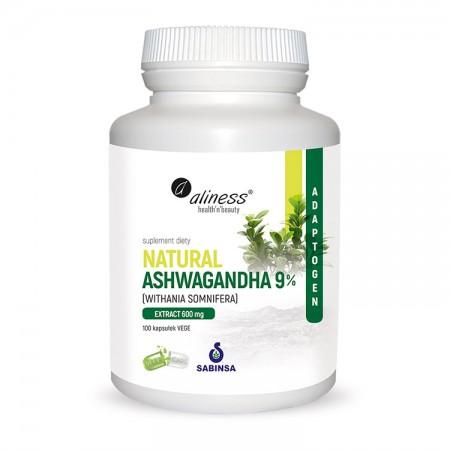 ALINESS Natural Ashwaganda 600mg 9% 100kap Vege