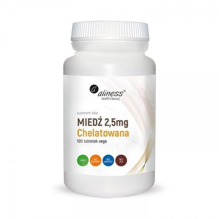 ALINESS Miedź chelatowana 2,5mg 100 tab Vege