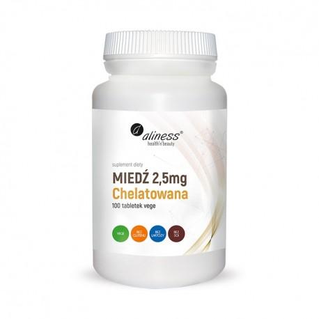 ALINESS Miedź chelatowana 2,5 mg 100 tab Vege
