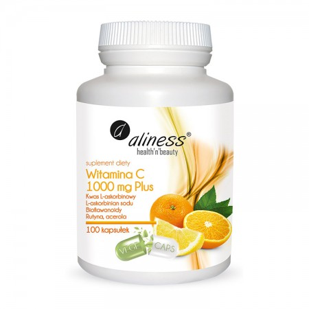 ALINESS  Witamina C 1000 mg Plus 100kap VEGE