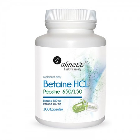 ALINESS Betaine HCL Pepsyna 650/150 mg 100kap (Betaina)