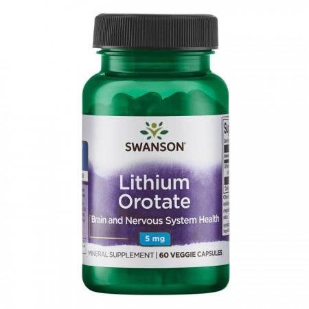 SWANSON Lithium Orotate 5mg 60kap