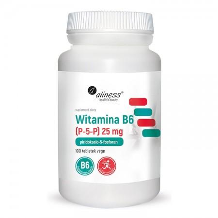 ALINESS Witamina B6 (P-5-P) 25mg 100tab wege