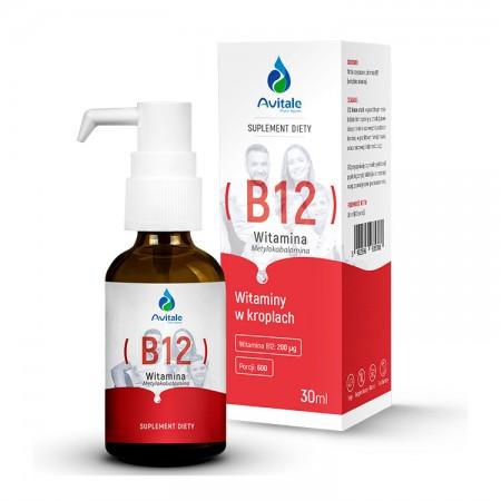 AVITALE Witamina B12 Metylokobalamina 200µg 30ml