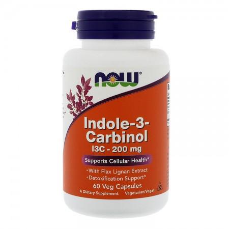 NOW FOODS Indole-3-Carbinol I3C 200mg 60kap vege