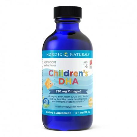 NORDIC NATURALS Children's DHA 119ml Truskawka