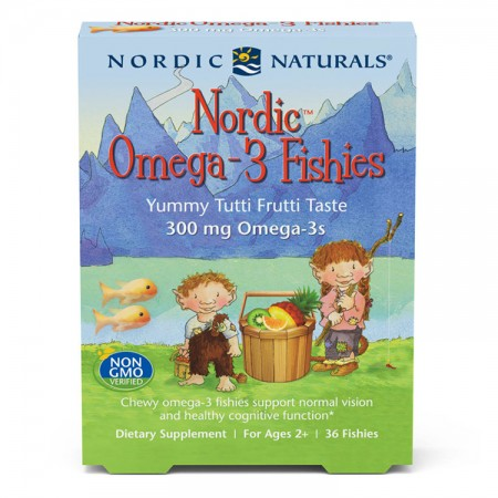 NORDIC NATURALS Nordic Omega-3 Fishies 36 żelków