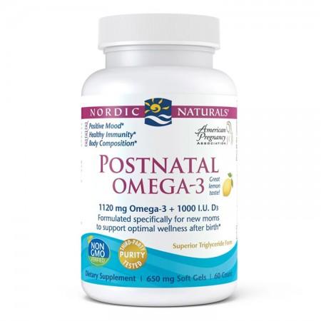 NORDIC NATURALS Postnatal Omega-3 60kap