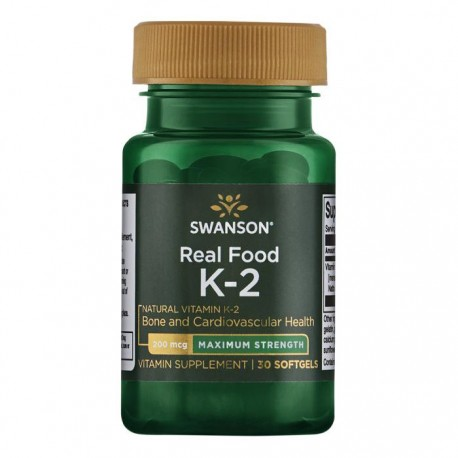 SWANSON Vitamin K2 200mcg 30kap  Witamina MK-7