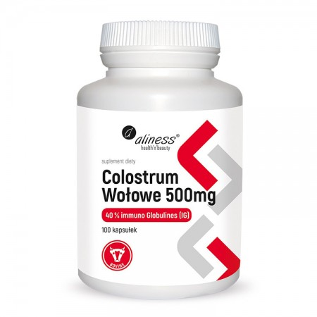 ALINESS Colostrum wołowe IG 40% 500mg 100kap