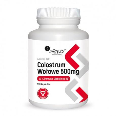 ALINESS Colostrum wołowe IG 40% 500mg 100kap