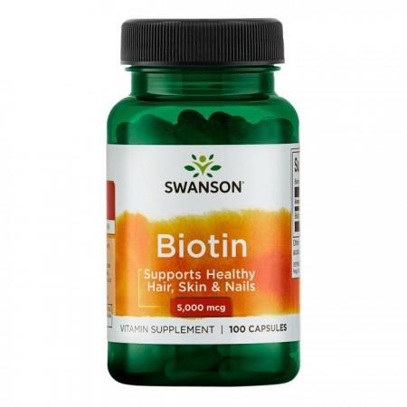 SWANSON Biotin 5mg 60kap Biotyna