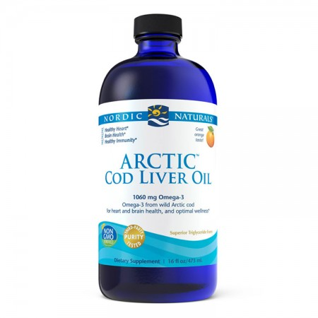 NORDIC NATURALS Arctic Cod Liver Oil 473ml Pomarańcza