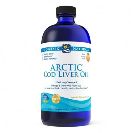 NORDIC NATURALS Arctic Cod Liver Oil 237ml Pomarańcza