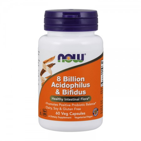 NOW FOODS 8 Billion Acidophilus & Bifidus 60kap wege