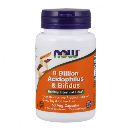 NOW FOODS 8 Billion Acidophilus & Bifidus 60kap wege