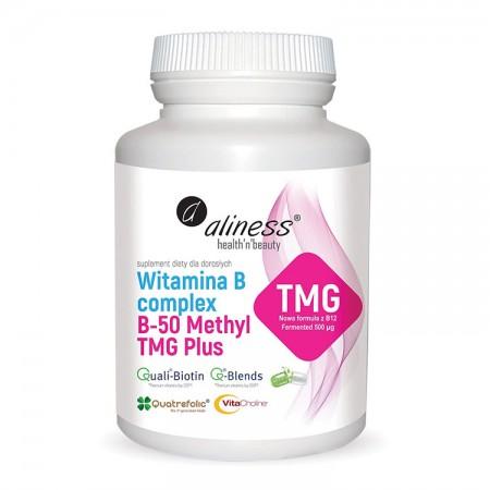 ALINESS  Witamina B Complex B-50 Methyl TMG PLUS 100kap