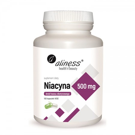 ALINESS Niacyna - Amid kwasu nikotynowego 500mg 100kap vege