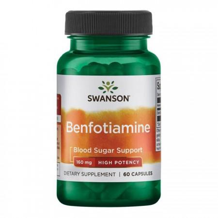 SWANSON Benfotiamine 160mg 60kap Benfotiamina B1