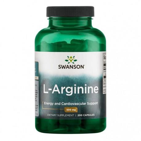 SWANSON L-Arginine 500mg 200kaps