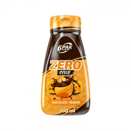 6PAK NUTRITION Zero Syrop Chcocolate-orange 500ml