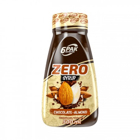 6PAK NUTRITION Zero Syrop Chocolate-almond 500ml