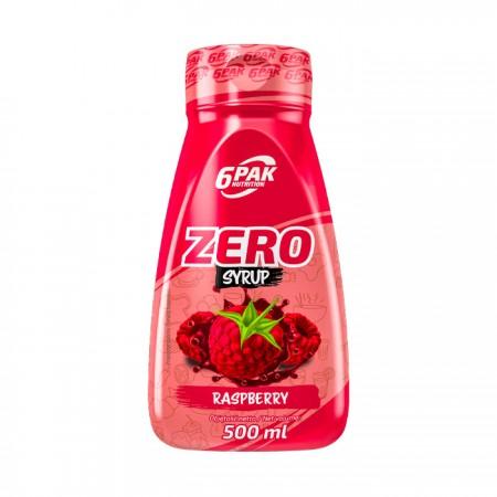 6PAK NUTRITION Zero Syrop Raspberry 500ml