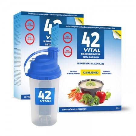 42 Vital Niskokaloryczna dieta roślinna 2x 510g + Shaker