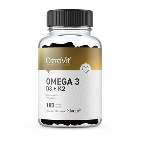 OSTROVIT Omega 3 D3+K2 180kap