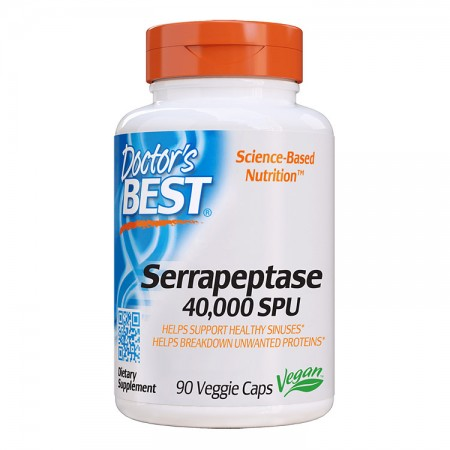 DOCTOR'S BEST High Potency Serrapeptase 40,000 SPU 90kap