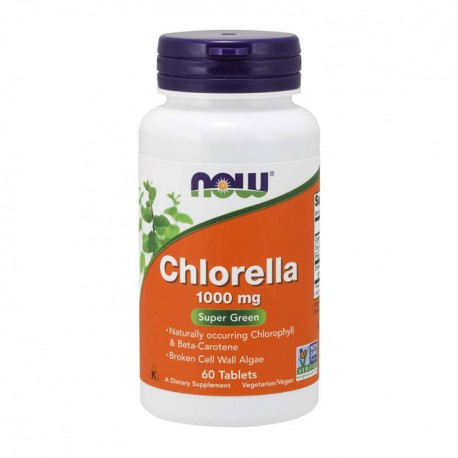 NOW FOODS Chlorella 1000mg 60tab