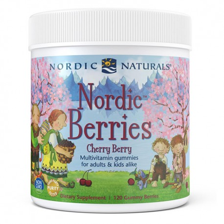 NORDIC NATURALS Nordic Berries 120żelków wiśniowych